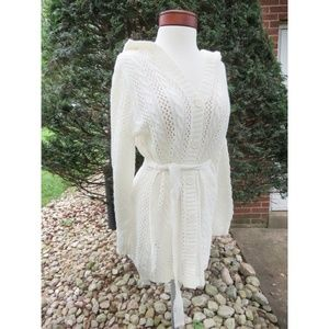 Vintage Trending Ivory Open Knit Cardigan Sweater